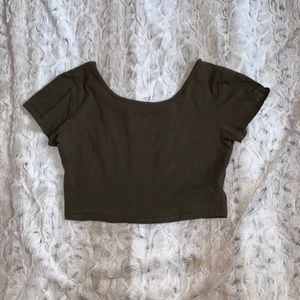 PacSun Army Green Crop Top